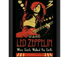 Quadro Led Zeppelin Jimmy Page Banda Rock Decoracao Pub Sala