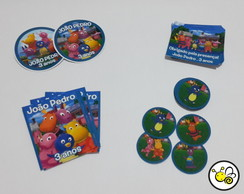 KIT COM 80 ADESIVOS BACKYARDIGANS