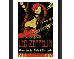 Quadro Led Zeppelin Jimmy Page Poster Guitarra Banda Rock