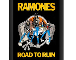 Quadro Ramones Road To Ruin Punk Rock Banda Decoracao Salas