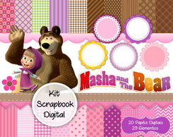 Kit Scrapbook Digital - Masha e Urso