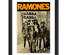Quadro Ramones Gabba Gabba Hey Punk Rock Banda Decoracao Pub