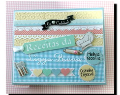 Fichario de Receitas Personalizado Scrapbook candy colors