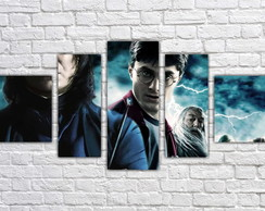 Quadro Decorativo Harry Potter Filme Mosaico 5 Pçs 02