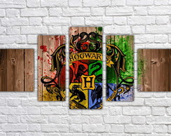 Quadro Decorativo Harry Potter Filme Mosaico 5 Pçs 05