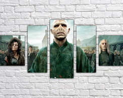 Quadro Decorativo Harry Potter Filme Mosaico 5 Pçs 07