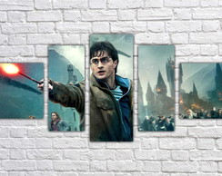 Quadro Decorativo Harry Potter Filme Mosaico 5 Pçs 09