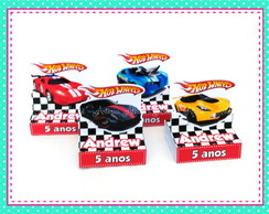 Caixa porta chocolate Hot Wheels