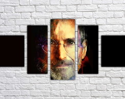 Quadro Decorativo Steve Jobs Informática Apple Mosaico 01