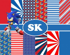 Kit Digital Scrapbook Sonic 2