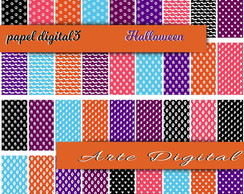 Kit Papel Digital - Halloween 36 papeis