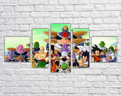 Quadro Decorativo Vegeta Dragon Ball Z Mosaico 5 Pçs 07