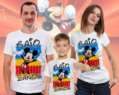 kit 3 Camisas Tema Mickey Mouse