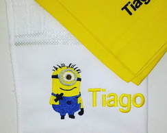 Kit Hora do Lanche Bordado Personagem Minions