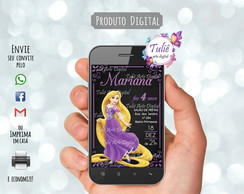 Convite Digital Rapunzel Whatsapp