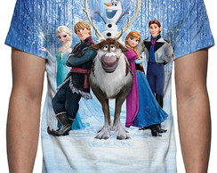 Camiseta Frozen Toda a Turma - Estampa Total