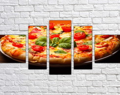 Quadro Decorativo Pizza Decorar Pizzarias Mosaico 5 Pçs 06