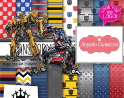 Kit Digital Scrapbook Transformers 1