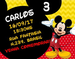 Convite Mickey Digital Whatsapp