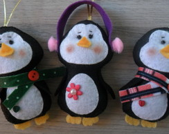Kit de pinguins enfeite de Natal