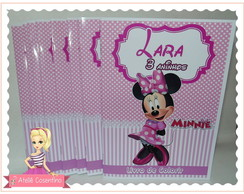 Kit colorir + giz de cera - Minnie