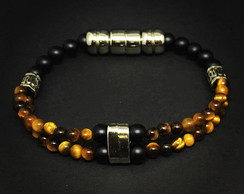Double Tiger Eye Bracelet