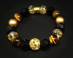 Gold and Tiger Eye Bracelet
