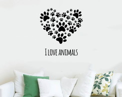Adesivo Decorativo I love Animals