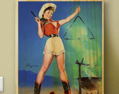 Quadros Poster Pinups Mulheres 34x27