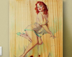 Quadros Poster Pinups Mulheres Vintage 34x27 Gil Elvgren #6