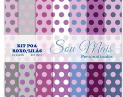 Kit Digital Poa Roxo/Lilas