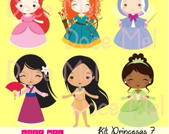 Kit Digital Princesas 7