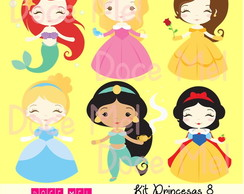 Kit Digital Princesas 8