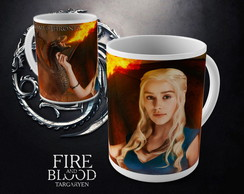 Caneca Game of Thrones Casa Targaryen