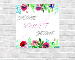 Placa MDF- HOME SWEET HOME