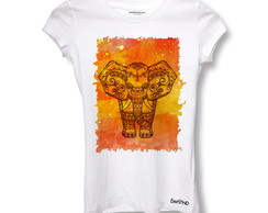 Camiseta Baby Long Elefante Indiano