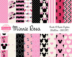 Kit Papel Digital - Minnie Rosa