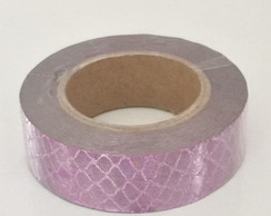 Washi Tape Escamas Roxa Metalizada-12m