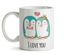 Caneca Pinguim I love you