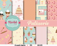 Papel Digital Scrapbook - Patisserie