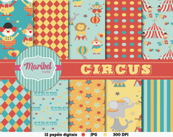 Papel Digital Scrapbook - Circus
