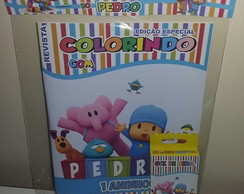 Kit Colorir Revistinha Pocoyo