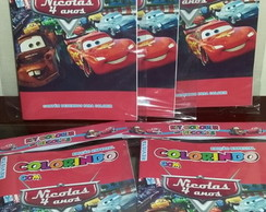 Kit Colorir Revistinha Carros Disney