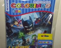 Kit Colorir Revistinha Batman Lego