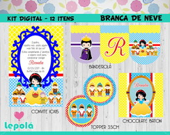 Kit Festa Digital - Branca de Neve