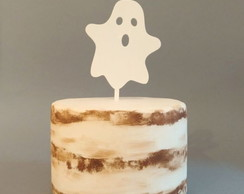 Cake Topper Halloween Fantasma