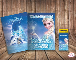 Kit Colorir Personalizado Frozen