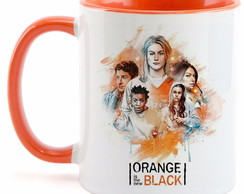 Caneca Orange Black