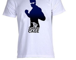 Camiseta infantil ou adulto mortal kombat johnny cage