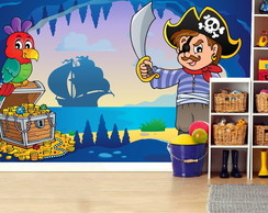 Adesivo Painel Infantil Pirata Barco 34